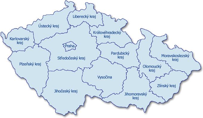 Mapa CR